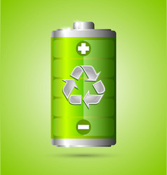 Recycled energy icon vector