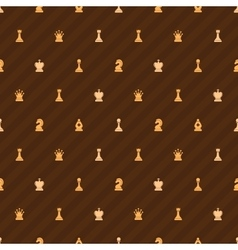Beige chess icons on brown background seamless vector