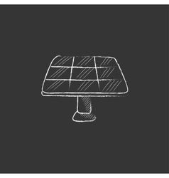 Solar panel drawn in chalk icon vector