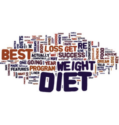 Best diets to lose weight text background word vector
