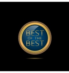 Best of the best vector image vector image