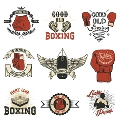 Boxing Boxing club labels on grunge background T vector image vector image
