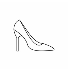Bride shoes icon outline style vector image