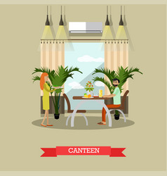 Canteen in flat style vector