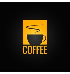coffee menu cup design background vector image vector image