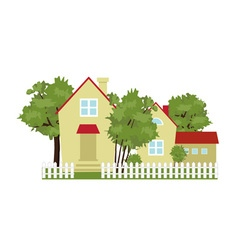 cottage village vector image