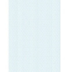 Cyan isometric grid with vertical guideline on a4 vector image
