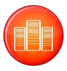 Database servers icon flat style vector