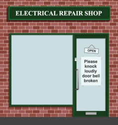 electrical repair shop vector image vector image