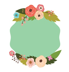 Elegant frame with flowers vector