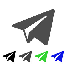 Freelance paper plane flat icon vector
