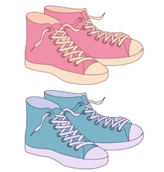 Gumshoes vintage colors vector