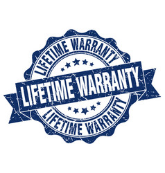 Lifetime warranty stamp sign seal vector