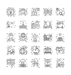 Line Icons With Detail 24 vector image vector image