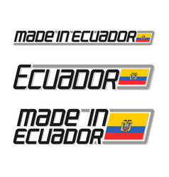 Made in ecuador vector