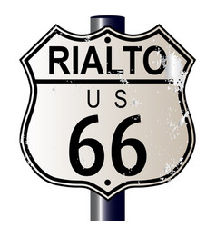 Rialto route 66 sign vector