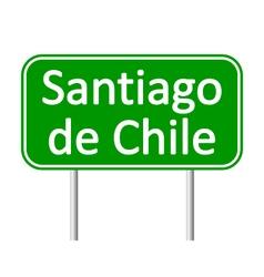 Santiago de chile road sign vector