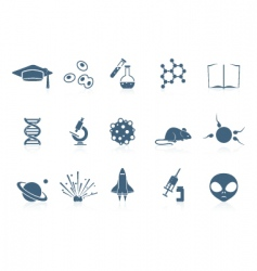 science icons piccolo series vector image vector image