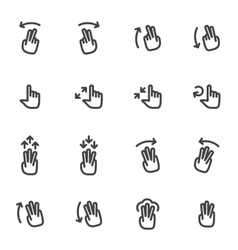 Set of icons and logos hands fingers vector image