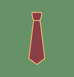 Tie sign cordovan icon and vector