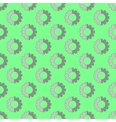Seamless gear pattern industrial background vector