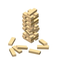 Wood game Wooden blocks eps vector image