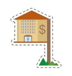 Real estate property value residential cut line vector