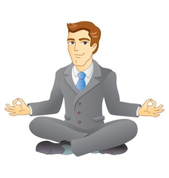 Business meditation vector