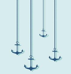 Nautical anchor silhouettes vector