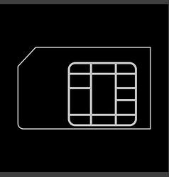 Sim card the white path icon vector