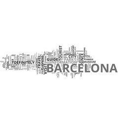 Barcelona tour text background word cloud concept vector