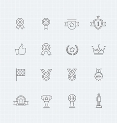 Trophy and prize thin line symbol icon vector