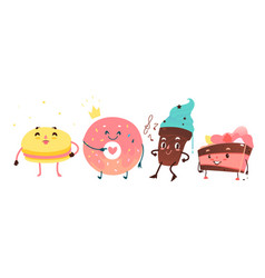 Sweet humanized character set isolated vector