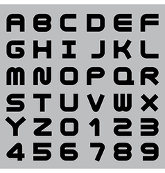 Smooth alphabet set vector