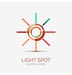 Light spot icon company logo business concept vector