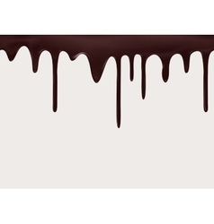Seamless flowing melted chocolate vector