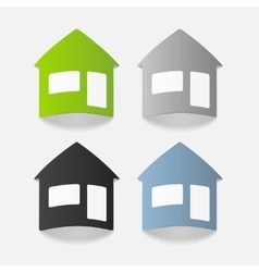 Realistic design element house vector