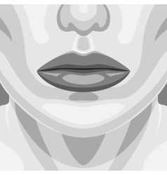 Retro portrait of beauty vampire woman face vector