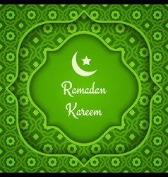 arabic background ramadan green vector image vector image
