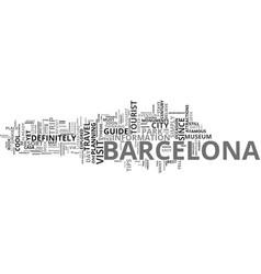 Barcelona tour text background word cloud concept vector