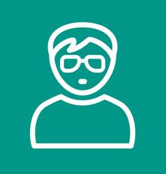 Boy in nerdy glasses vector