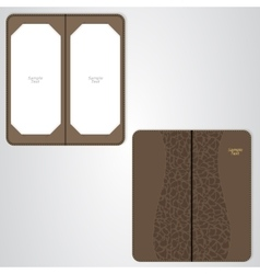 Brown leather folder for the vip restaurant vector