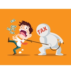 business man and tax vector image