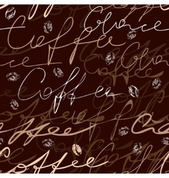 Coffee script pattern vector