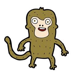 comic cartoon monkey vector image