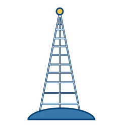 communications antenna isolated vector image