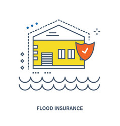 concept of flood insurance vector image
