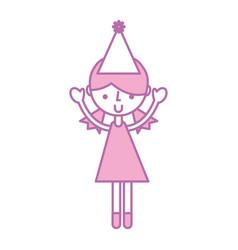 Cute party girl cartoon vector