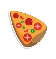 Delicious italian pizza isolated icon vector