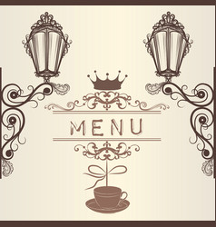 elegant frame menu or invitation card for design vector image